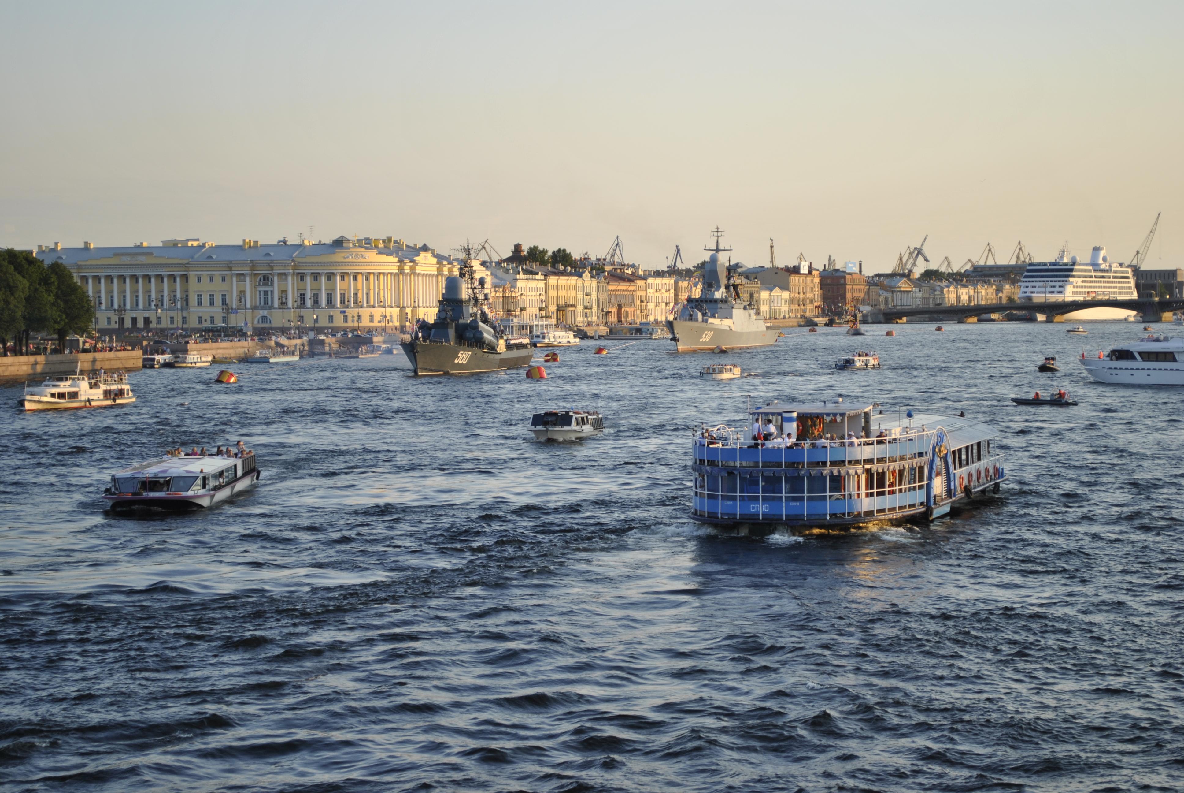 навигация в акватории Петербурга